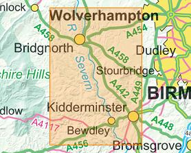 Image result for kidderminster map
